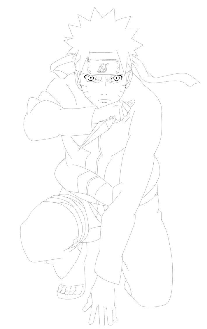 Naruto Lineart : Naruto shippuuden lineart by kohaku art on deviantart
