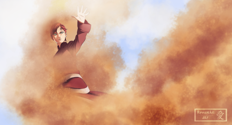 Gaara with the Sand by Kohaku-Art