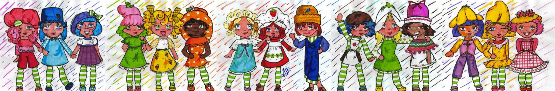 Strawberry Shortcake Gang by endisforever818
