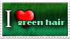 I Love Green Hair by Zimmette-Stock