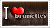 I Love Brunette Hair by Zimmette-Stock