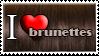 I Love Brunette Hair by Zimmette-Stock