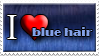 I Love Blue Hair by Zimmette-Stock