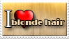 I Love Blonde Hair by Zimmette-Stock