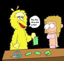 Big Bird Makes Gina a Halloween Costume by TimzUneeverse