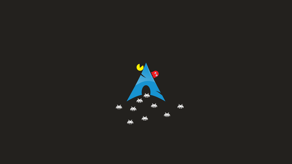 Arch Pacman Invaders by dotvalfar