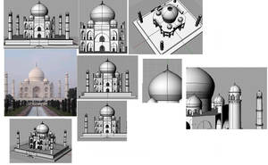 3D Taj Mahal by jamez88