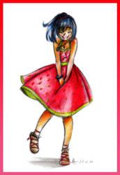 .: Strawberry Dress :. by xSkyeCrystalx