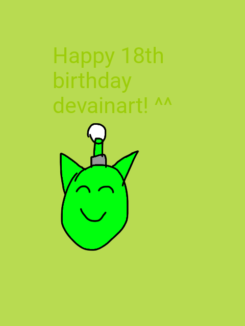 Happy birthday devainart by mendythefatinkdemon