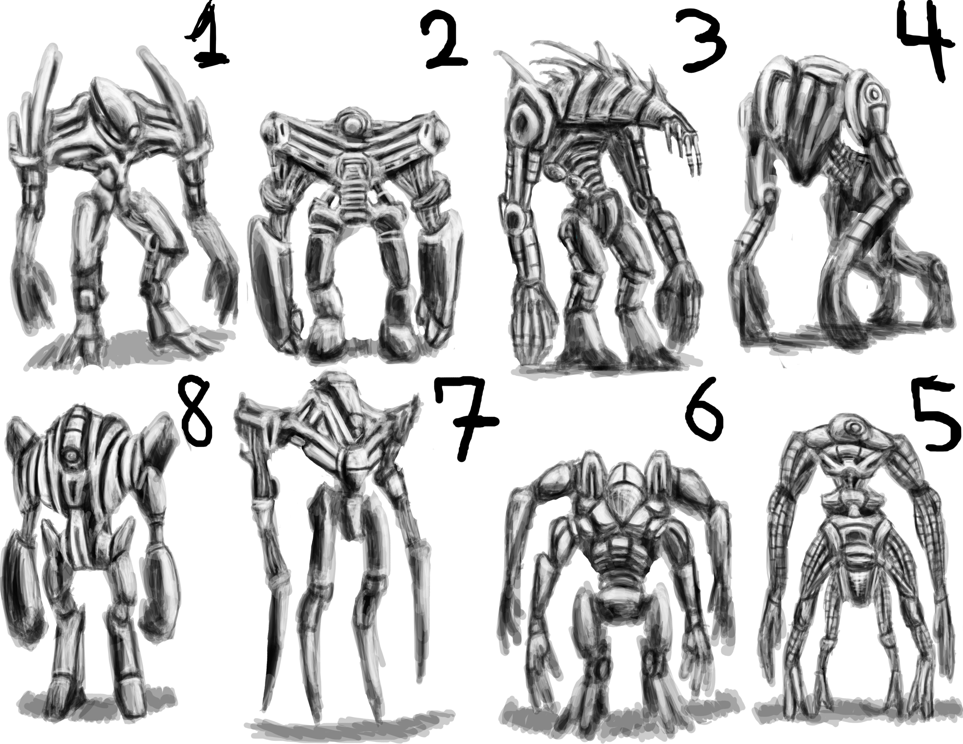 Robot Concept Drawings Robot Concept Sketches by