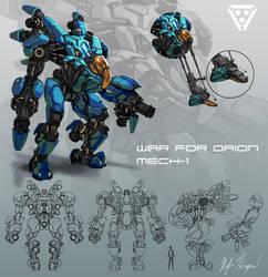 Space Mech Concept by ArtOfThompson