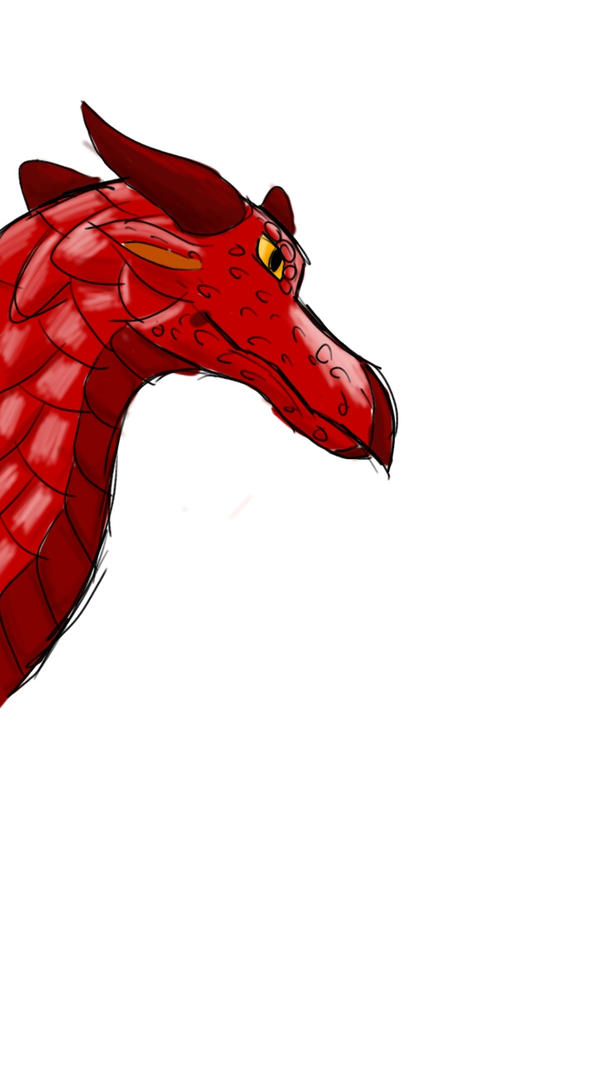 Red dragon by LegitHerobrine