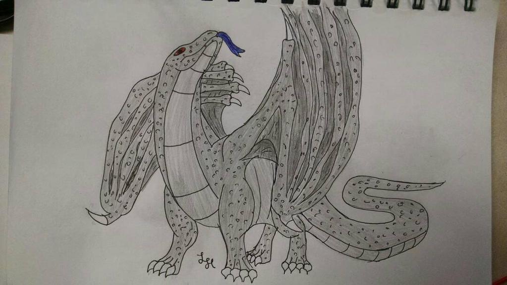 Komodo Dragon [Redraw] by LegitHerobrine
