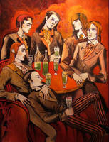 absinth drinkers by JuliuszLewandowski