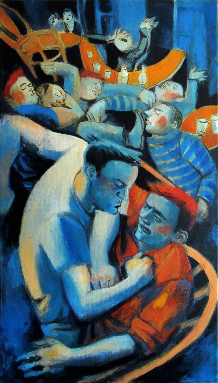 Riot in the bar by JuliuszLewandowski