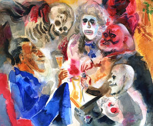 Ghosts, after George Grosz by JuliuszLewandowski