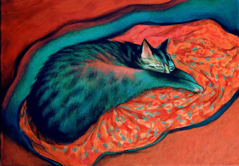cat by JuliuszLewandowski