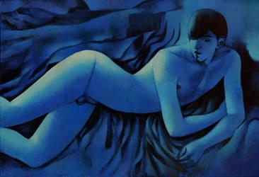 blue nude by JuliuszLewandowski