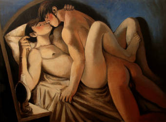couple with lamp 2 by JuliuszLewandowski