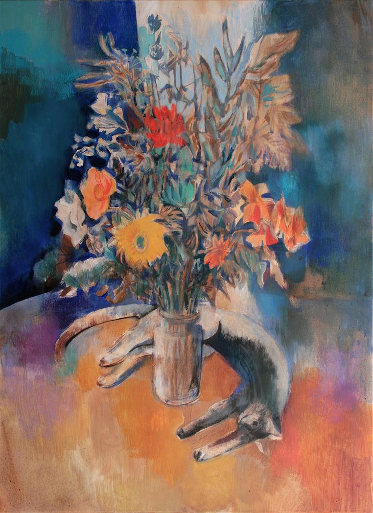 Bouquet and Cat by JuliuszLewandowski