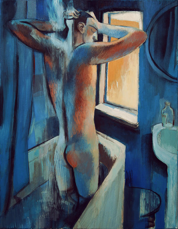 bathroom nude by JuliuszLewandowski