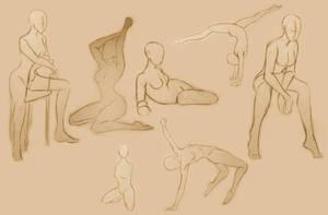 Female Poses Study by GlassLotuses