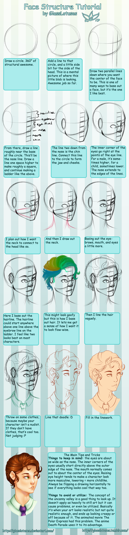 Face Proportioning Tutorial by GlassLotuses