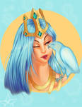 League of Legends Ashe Bust Commission by GlassLotuses