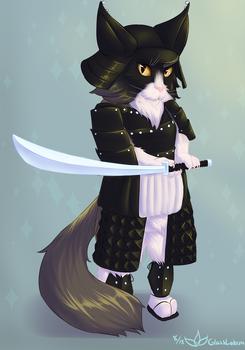 Bhehmeim the Samurai Cat