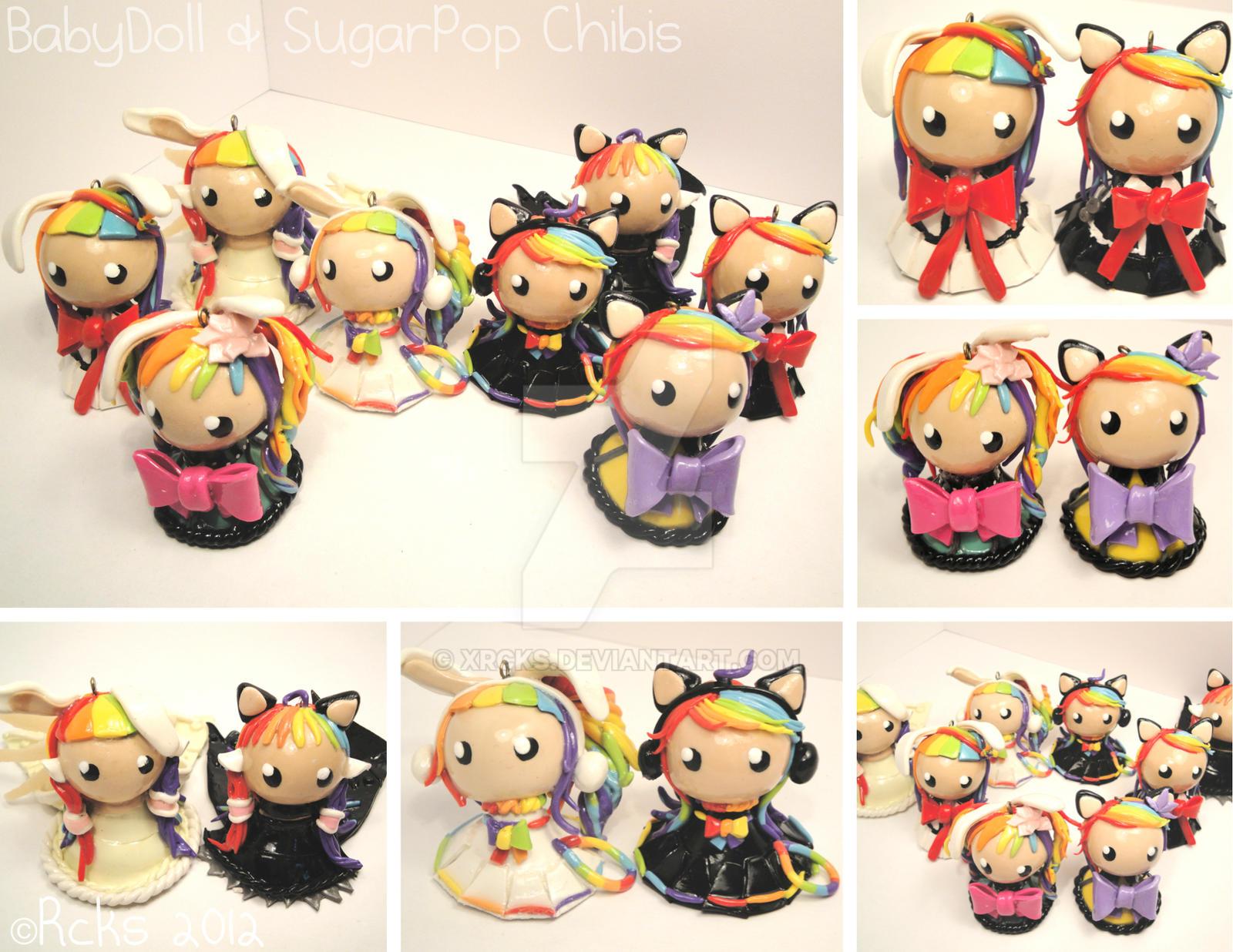 BabyDoll and SugarPop Cosplay Chibis by xRcks