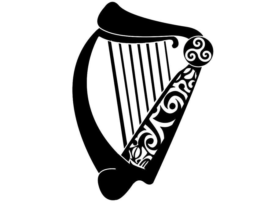 Harp Tattoo Designs