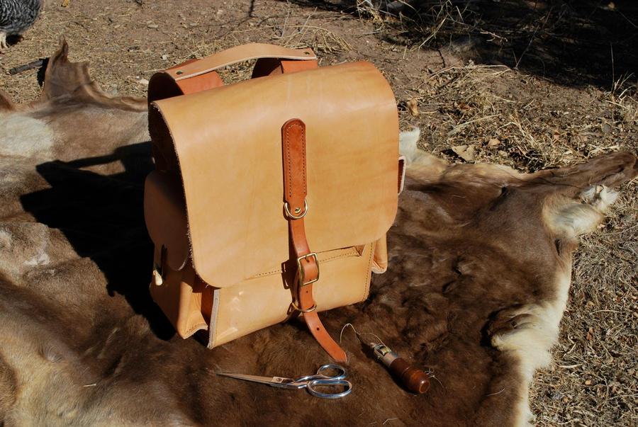 Orc hard leather bag... by Simbaen on DeviantArt