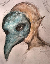Plague mask sketch
