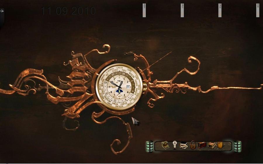 steampunk wallpaper clock - photo #16