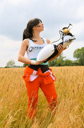 Chell - Portal 2 - The escape by Nerdbutpro