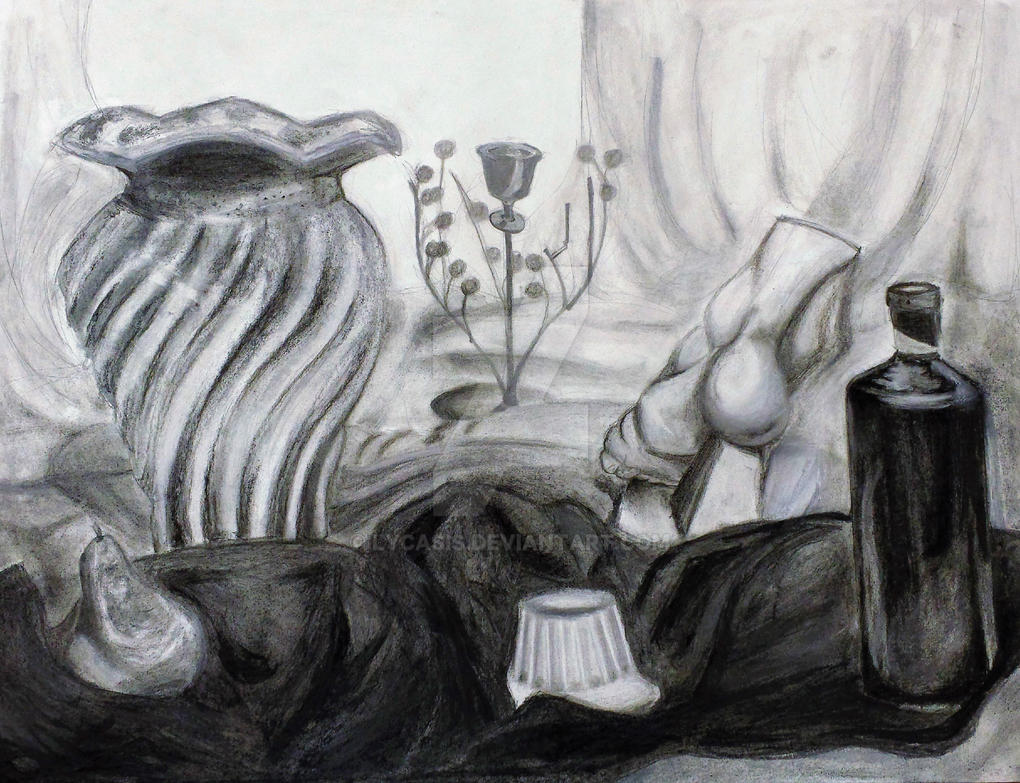 Charcoal and Conte by Lycasis