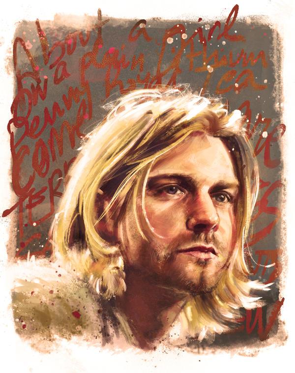 Kurt Cobain digital illustration by IgnacioRC