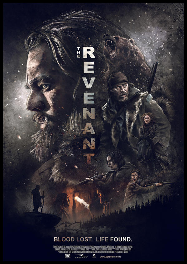 The Revenant movie poster by IgnacioRC
