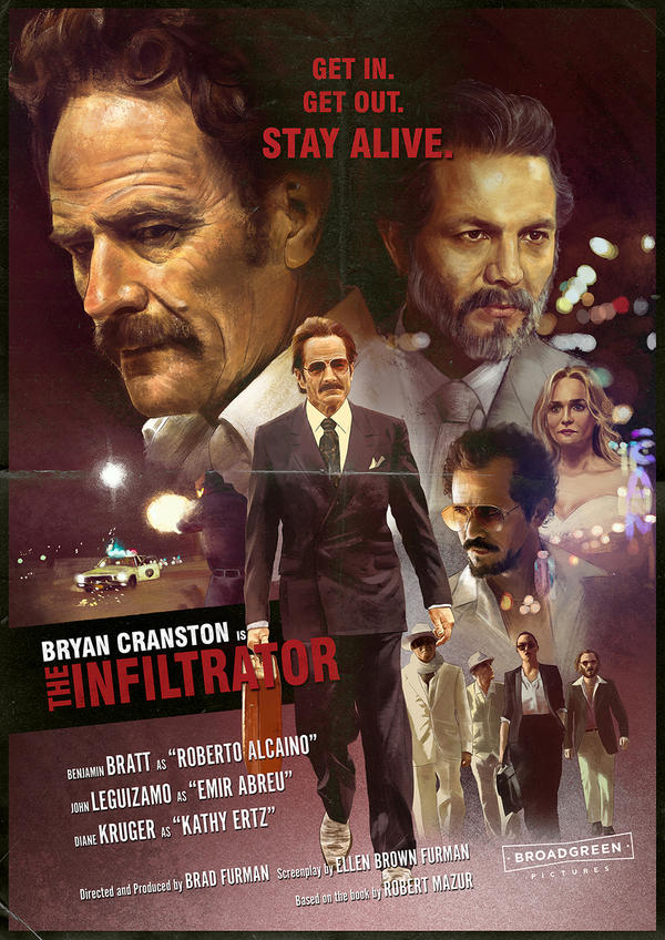 THE INFILTRATOR alternative movie poster by IgnacioRC