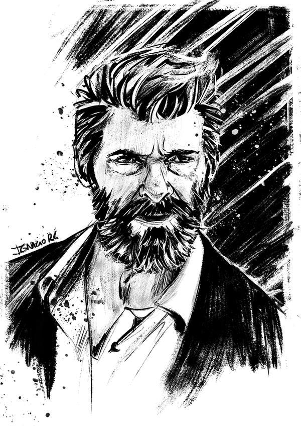 Logan ink sketch by IgnacioRC