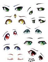 OC Eye Chart by Hana-Keijou