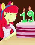 Happy Birthday Apple Bloom/Michelle Creber! by jongoji245