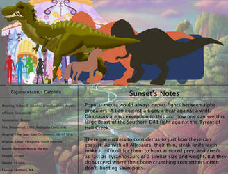 The Land Before Time Species Chart 24: Giganoto by jongoji245