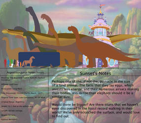 The Land Before Time Species Chart 53: Argentino by jongoji245