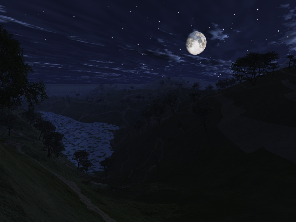 Vue Test: Moonlit Night by digitalman on DeviantArt Night