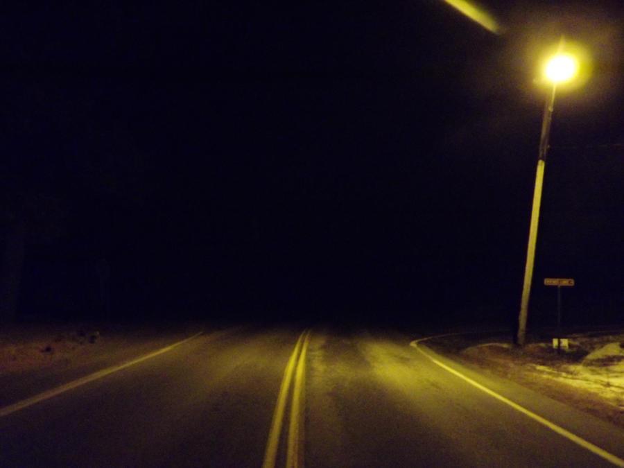 Lone Street Lamp by RosethePoet
