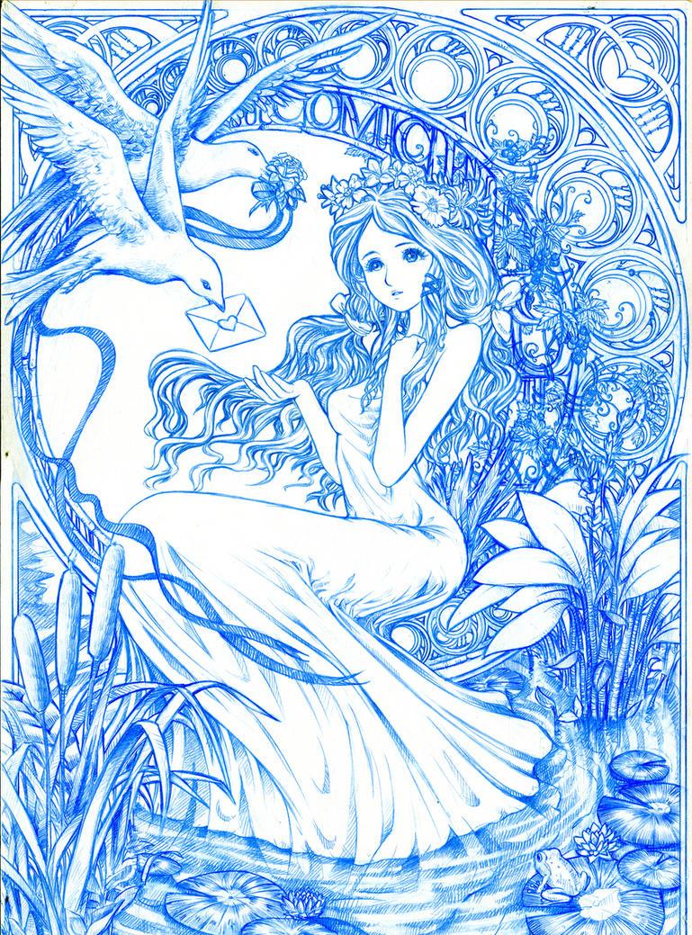 """Comic Fiesta 2011 Art """"line art"""" by sinms"""