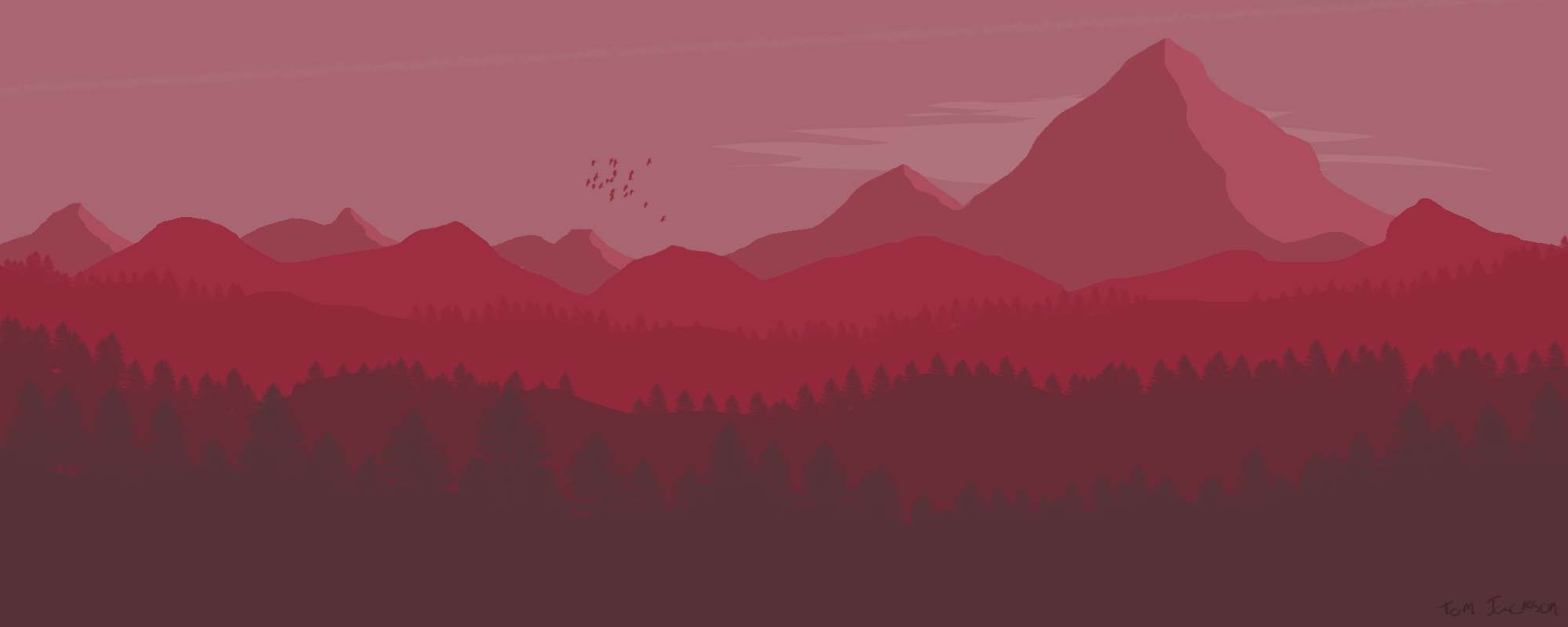 Minimalist art style landscape by dr sandvich on deviantart for Art minimaliste artiste