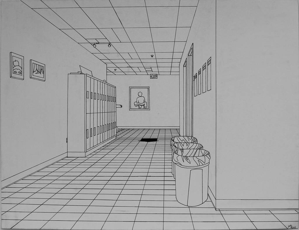 First Point Perspective Hallway by Skywolf-JM