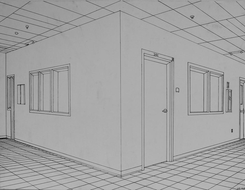 Two Point Perspective Hallway By Skywolf Jm On Deviantart